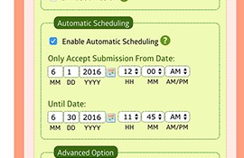 Automatic Scheduling