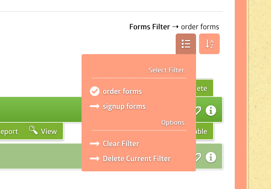 Form Filters