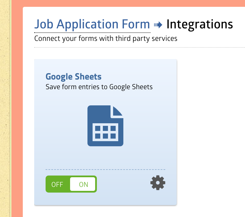 Google Sheets Integration - MachForm