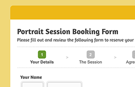 Portrait Session Booking Form