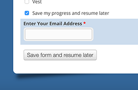 Save Form & Resume Later
